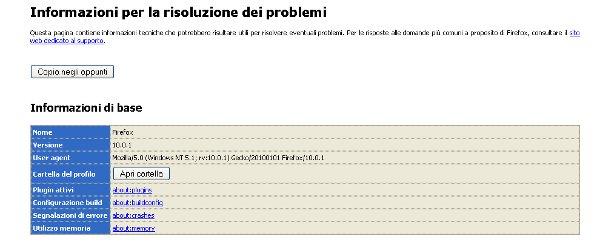 Firefox: effettuare il backup del profilo