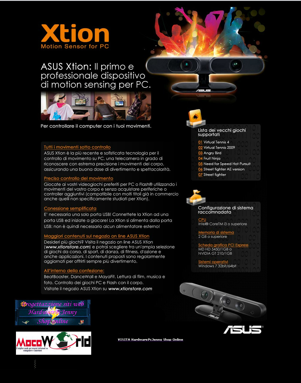 Motion Sensor Xtion by Asus