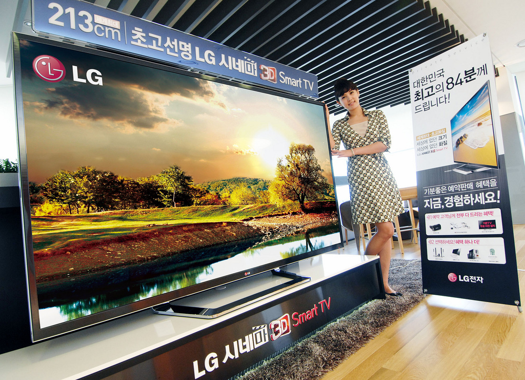 La gigantesca TV da 75″