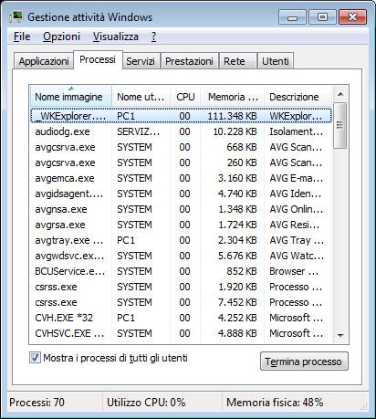 Collegamento sul desktop per terminare i programmi bloccati con un click